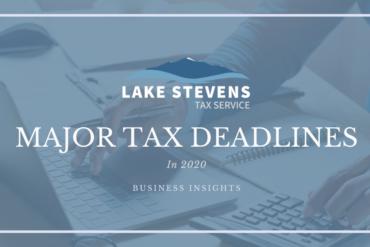 Major Tax Deadlines in 2020 | Lake Stevens Tax Service